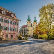 Stadtzentrum und Residenzschloss Donaueschingen an der Donauequelle