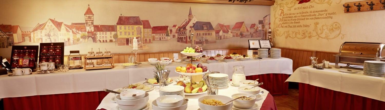 fruehstuecksbuffet im hotel in braeunlingen 1500x430 - Hotel Restaurant Lindenhof bei Donaueschingen im Schwarzwald