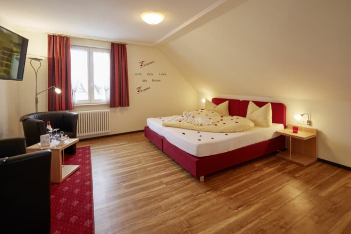 Romantic hotel room Donaueschingen