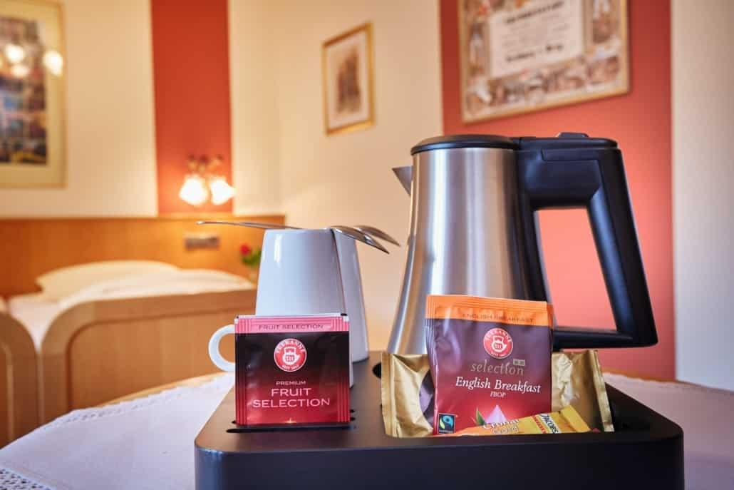 Alle Hotelzimmer jetzt mit Teestation