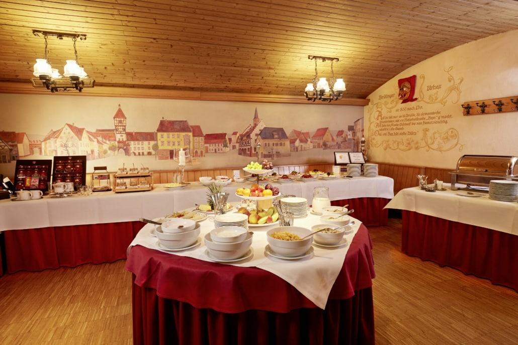 Frühstück im Hotel Bräunlingen