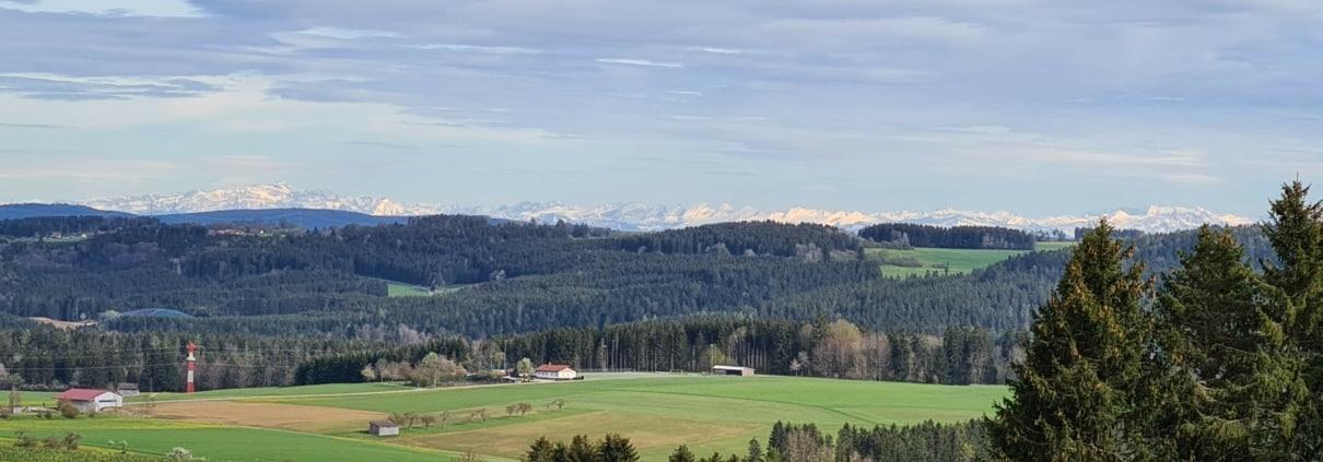Alpenpanorama bei Löffingen